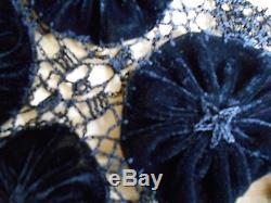 Skirt maxi long length black exlusve opera luxury applique crochet SEXY