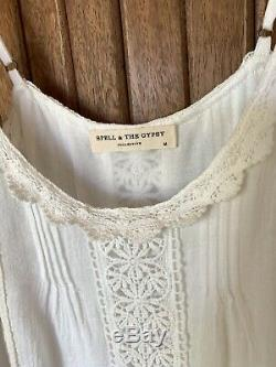 Spell And The Gypsy Collective Hanging Rock White Skirt And Top SET Medium NWOT