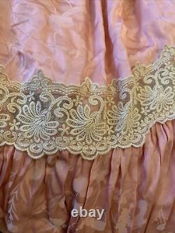 Spell And The Gypsy Collective X Free People Maxi Satin Lace Flowy Skirt Pink XS