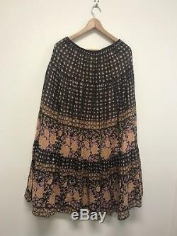 Spell And The Gypsy Desert Rose Maxi Skirt In Raven Large