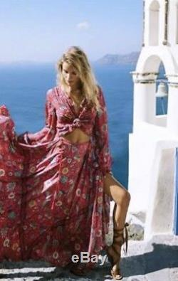 Spell And The Gypsy Half Moon Lovebird Rose Maxi Skirt Size M