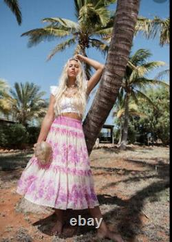 Spell Coco Lei Skirt In Lilac Sz M BNWT (RRP $259)