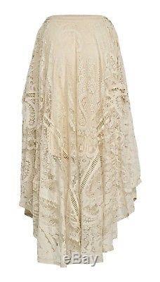 Spell Designs BNWT Sz M Rhiannon Cream Sheer Lace Skirt Half Lined