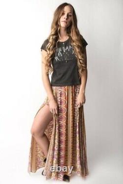 Spell Designs Boho Blossom Saffron Split Maxi Skirt- Size XS