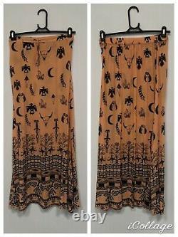 Spell Designs Boho Tribal Maxi Skirt In Peach Vintage- Size 8