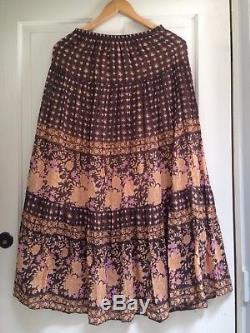 Spell Designs DESERT ROSE Maxi Skirt Raven Size XS