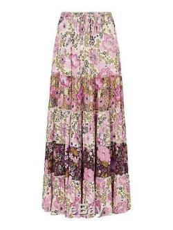 Spell Designs Desert Daisy Maxi Skirt Lilac Size S BRAND NEW