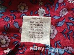 Spell Designs Folk Town Button Down Maxi skirt Wine Size M