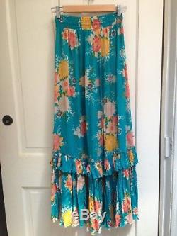 Spell Designs Jagger Maxi Skirt Teal Size S