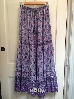 Spell Designs KOMBI BUTTON DOWN MAXI SKIRT Lavender Size S