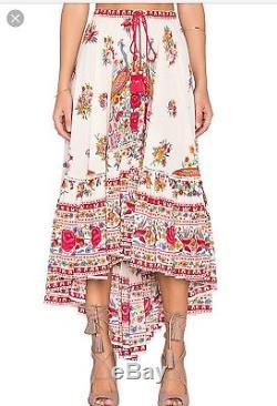 Spell & Gypsy Designs Hotel Paradiso Castaway Pearl RARE Midi Maxi Skirt