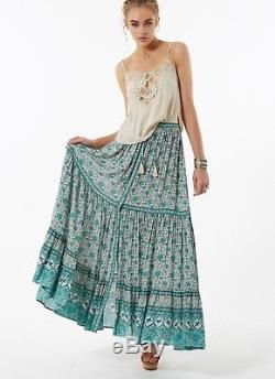Spell & Gypsy Designs Kombi Spice Sage Green RARE Maxi Skirt XS/S