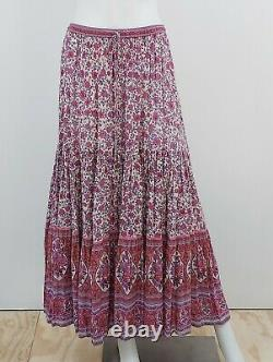 Spell Jasmine Maxi Skirt Lilac Printed Size Large
