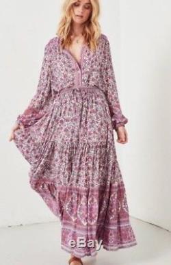 Spell Jasmine Maxi Skirt in Lilac BNWT Sz S (RRP $249)