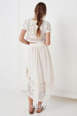 Spell & The Gypsy Abigail Lace Tie Skirt Size XS