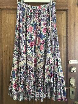 Spell & The Gypsy BABUSHKA Kerchief Castaway Maxi Skirt Lavender Size S