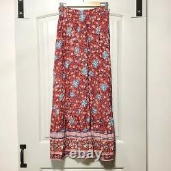 Spell & The Gypsy Collective Designs Wine FOLKTOWN MAXI SKIRT S