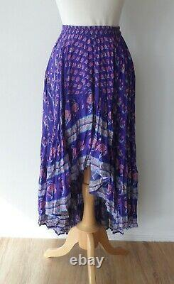 Spell & The Gypsy Collective Purple Bohemian Royale Castaway Full Maxi Skirt XS
