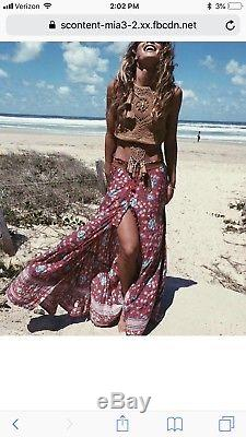 Spell & The Gypsy Collective Spell Designs L Folktown Maxi Skirt in Wine