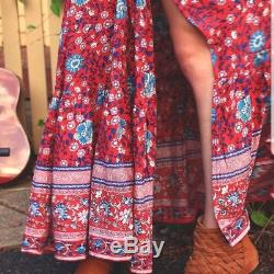 Spell & The Gypsy Collective Spell Designs Large L Folktown Maxi Skirt Wine