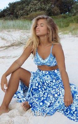 Spell & The Gypsy Lolita Split Skirt In Bluebelle L