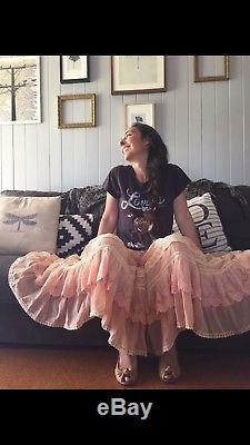 Spell & The Gypsy Prairie Lace Skirt Size Small Blush