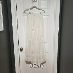 Spell & The Gypsy Sienna Skirt maxi lace white small button