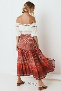 Spell & The Gypsy Tuula Gypsiana Maxi Skirt In Red. Brand New With Tags. Size Xs