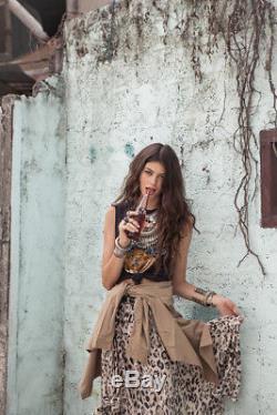Spell & The Gypsy Wild Ones Leopard Maxi Skirt Medium