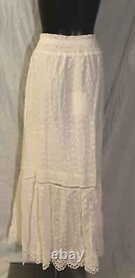 Spell & The Gypsy Women's Daisy Chain Maxi Skirt AB3 White Size 2XL (US12) NWT