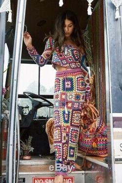 Spell and gypsy collective carnaby crochet Top+ Skirt Set Size Sm