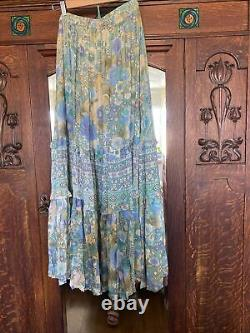 Spell and the Gypsy Collective Amethyst Maxi Skirt In Turquoise Medium M New NWT
