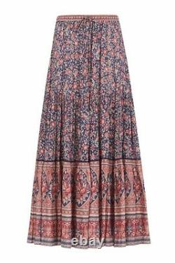 Spell and the Gypsy Collective Designs Navy Jasmine Maxi Skirt EUC L