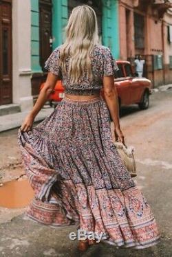 Spell and the Gypsy Collective Jasmine Maxi Skirt Medium M Navy