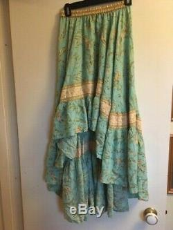 Spell and the Gypsy Collective Maisie Skirt Turquoise Size Small