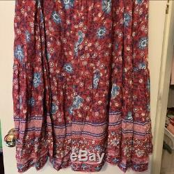Spell and the gypsy collective Folktown Skirt In Wine- Size Large