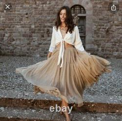 Spell and the gypsy collective Grace Tulle Maxi Skirt, Caramel, Size Large