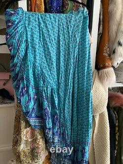 Spell and the gypsy collective Sunset Road Maxi Skirt Aqua Blue XS