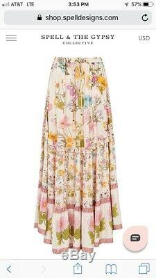 Spell and the gypsy collective Wild Bloom Maxi Skirtsize XSSold Out. BNWT