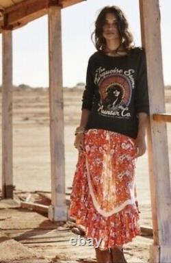 Spell and the gypsy collective orange maxi skirt xs revolver