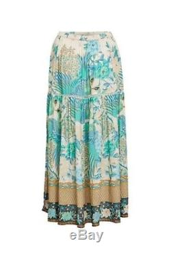 Spell & the Gypsy Collective Design Cloud Dancer Maxi Split Skirt Small S New
