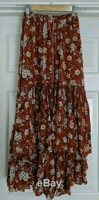 Spell & the Gypsy Collective Designs Gypsy Dancer Castaway Skirt Maple Sz XS