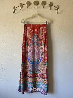 Spell & the Gypsy Collective Lotus Peacock Maxi skirt Size S Red Ruby