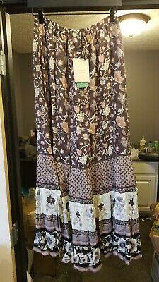Spell & the Gypsy Collective PORTOBELLO ROAD Maxi Skirt NIGHTSHADE large