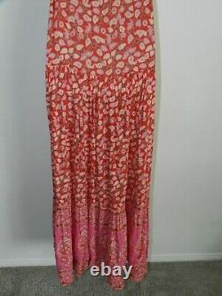 Spell & the Gypsy Collective tiered skirt sleeveless maxi, red/pink floral