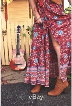 Spell & the gypsy Designs Folktown Maxi Skirt, Medium Wine SALE