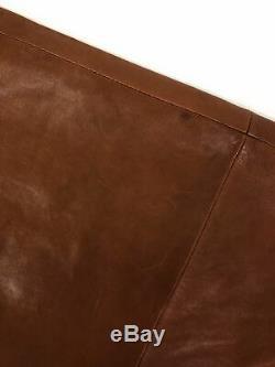 SportMax Full Length A-Line Maxi Leather Long Skirt, Brown Sz. 2 $1495.00
