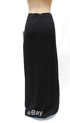 St John Evening Skirt Sz 14 Marie Gray Santana Knit Black Maxi NWT Vtg