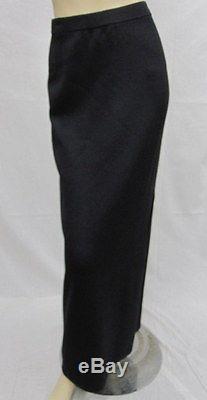 St John Knit Evening Black Long Skirt SIZE 16 18 NWOT