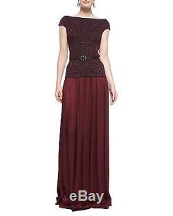 St. John Malbec Red 0/2 XS Liquid Satin Ruched/Pleated Maxi Skirt NEW $1095